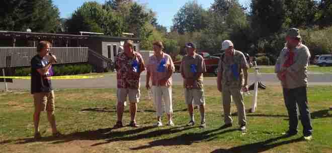 Judges and the Koi Fish Grand Champion