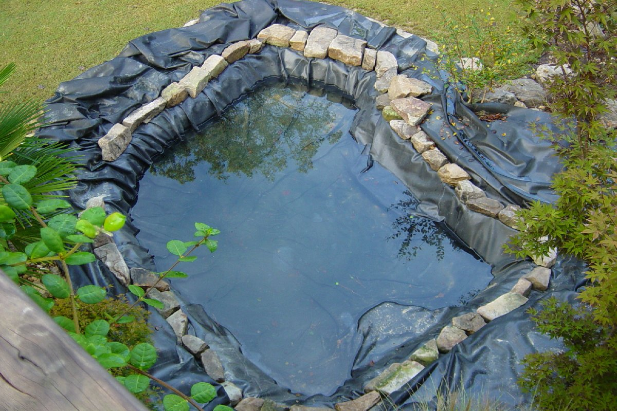 Choosing the right liner for your pond pvc rubber or for Diy pond liner ideas
